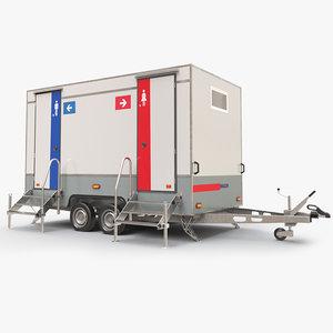 toilet trailer 3D model