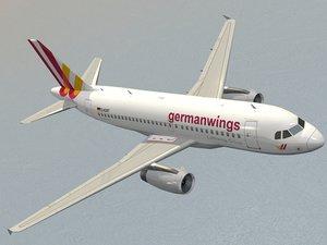 airbus a319 germanwings airliner model