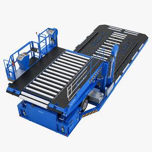 aircraft loader baggage 3D model