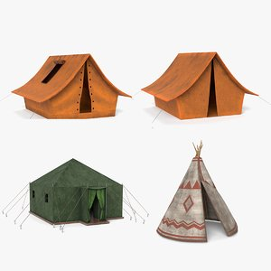 camping tent shelter 3D