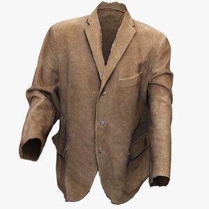 3D lace-up suit jacket