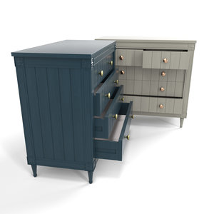 3D model bourbon vintage chest drawers