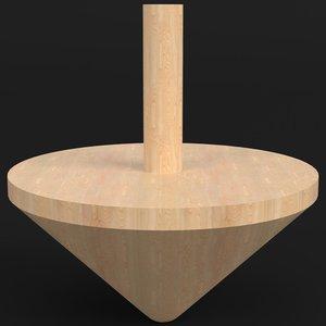 3D wooden spinning