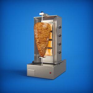 vertical doner kebab shawarma 3D model