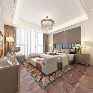 interior scene hotel room 3D