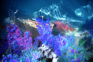 underwater forest coral reef 3D model