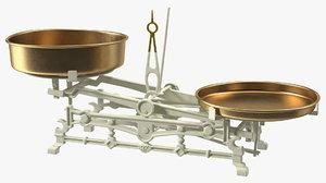 vintage kitchen balance scale 3D