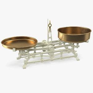 vintage kitchen balance scale 3D model