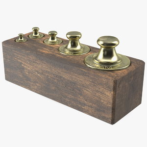 antique balance scale weights 3D model
