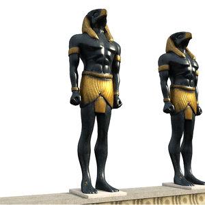 3D model egyptian pheronic sculpture eps-04