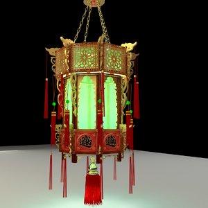 3D chinese palace lantern model