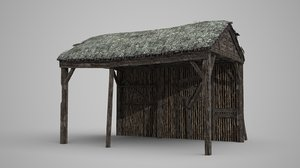 3D thatched houses model