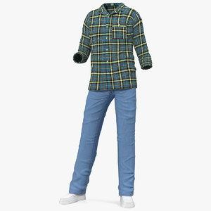 men homewear home wear 3D model