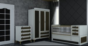 3D furniture baby room