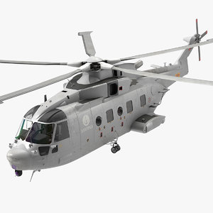agustawestland aw101 helicopter italian 3D model
