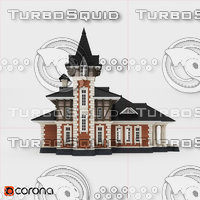 3D old house Ancient Luxury Mansions model