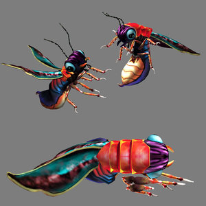 firefly rigged 3D model
