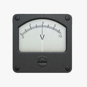 3D voltmeter virtual labs