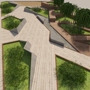 park corona trees 3D