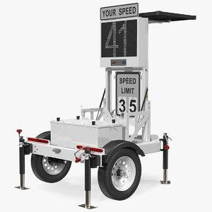 decatur speed radar trailer 3D model