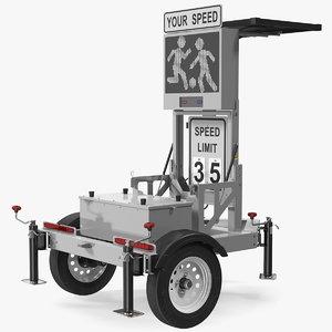 mobile trailer matrix messaging 3D model