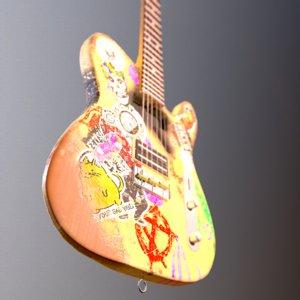 t style guitar 3D model