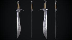 sword hobbit model