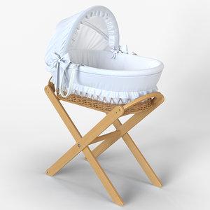 italbaby moses basket nido 3D model