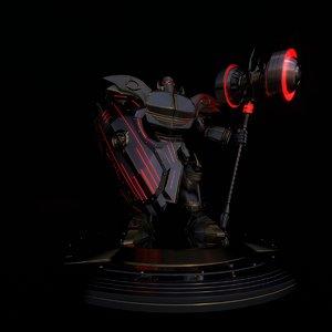 fantasy knight 3d model