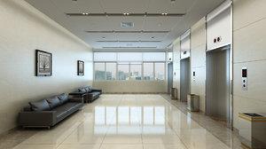 elevator lobby interior 3D model