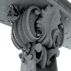 3D cast iron column