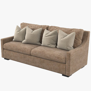 traditional hq unwrapped sofa 3D model