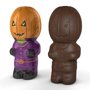 3D foil chocolate pumpkin head
