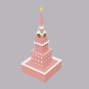 moscow kremlin spasskaya tower model