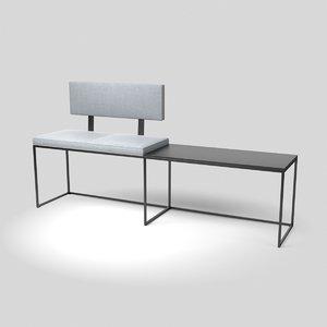 3D london bench