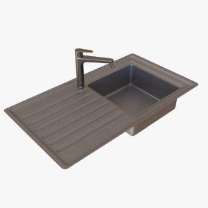 3D sink tap