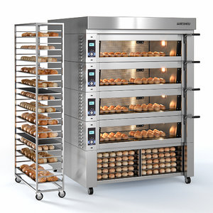 3D model convection oven