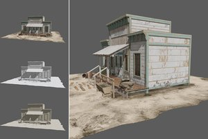 3D wester house west