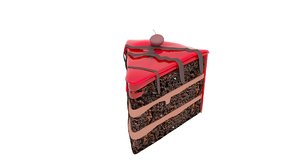 cake chocolate cherry 3D model