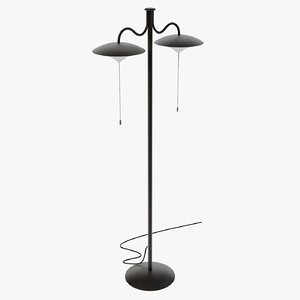 3D model floor lamp generic