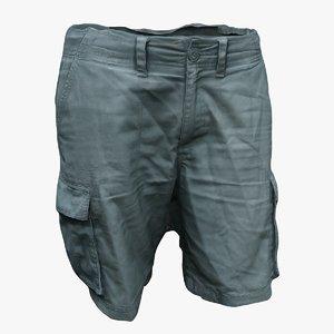 3D shorts pose character