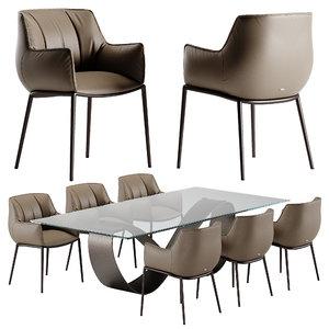 cattelan italia rhonda chair butterfly 3D model