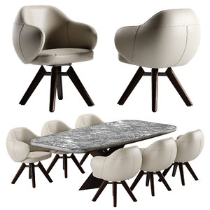 3D cattelan italia bombe chair model