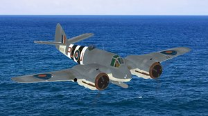 3D beaufighter fighter wwii