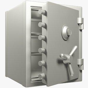 3D model safe opening door