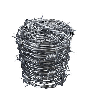 3D model barbed wire 3