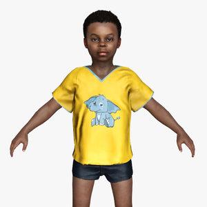 african boy 3D