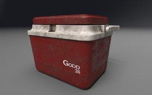 3D model cooler picnics