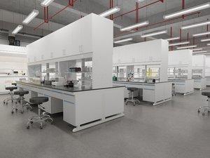 3D modern chemistry laboratory
