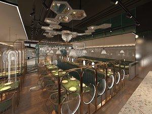 3D modern restaurant model